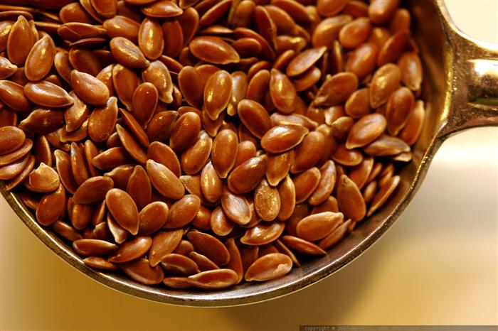 זרעי פשתן כמזון על